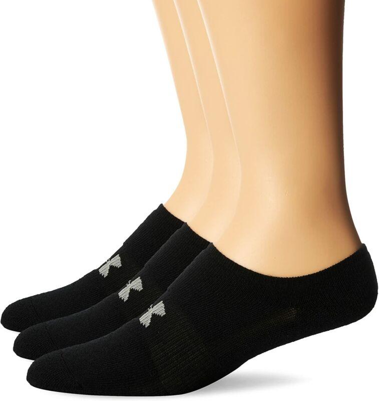 Under Armor Boys Socks Running Socks Heatgear Solo Socks, Black, L