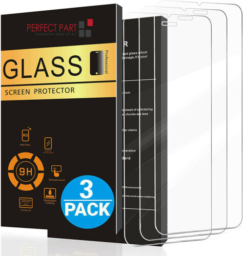 3-PACK For iPhone 13 12 11 Pro Max XR X XS Max 8 Tempered GLASS Screen Protector
