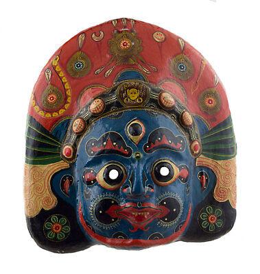 Large Mask Nepalese Mahakali Indra Jatra Festival Paper Mache Tibet 44cm 7321