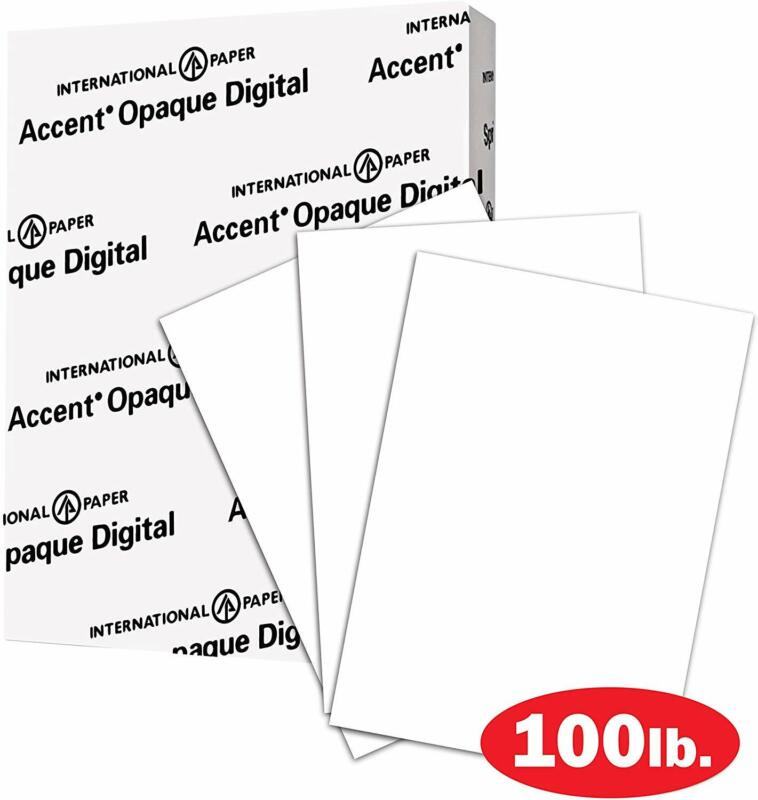 Thick Cardstock Paper, White, 100lb, 271gsm, 8.5 x 11, 97 Bright, 200 sheets