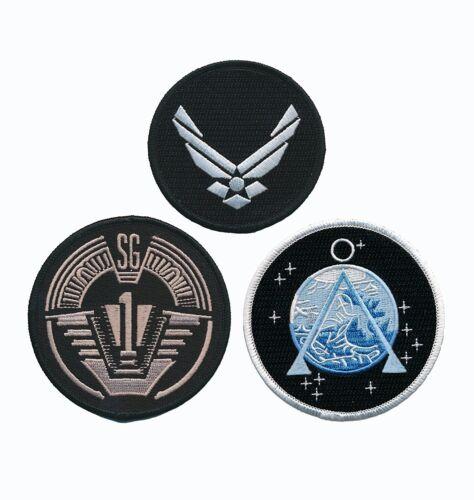 Stargate SG-1 Uniform/Costume Patch Set of 3 pcs PATCH [IRON ON SEW ON]