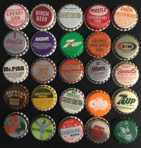 Lot of 105 Vintage to Collectible Soda Caps Lot (AA)