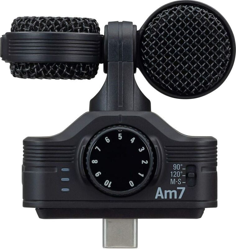 Zoom Am7 Android Stereo Microphone For Android Devices with USB-C Connector