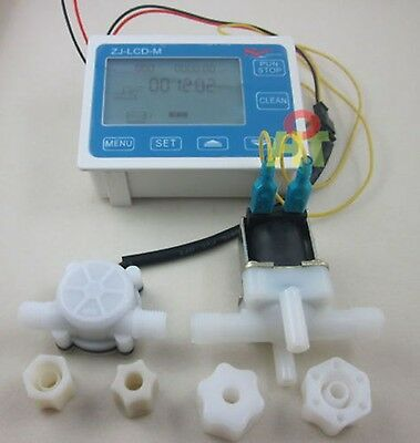 G14 Water Flow Control Lcd Displayflow Sensor Metersolenoid Valve Gauge