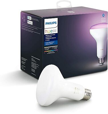 Philips Hue White and Color Ambiance BR30 LED Smart Bulb Bluetooth compatible