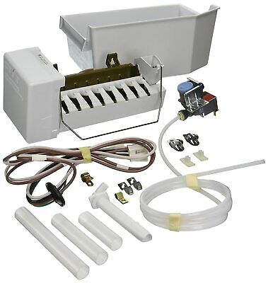 1129316 Whirlpool Ice Maker Kit Ice Bucket Included KitchenAid Compatible White