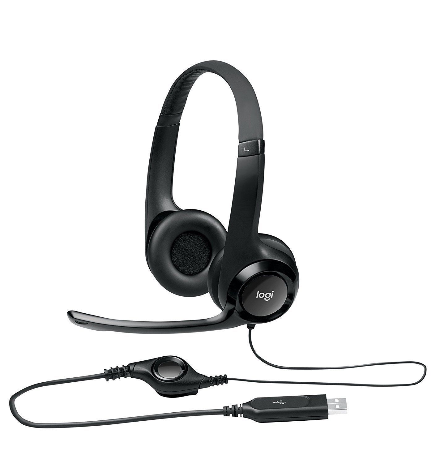 Logitech H390 Comfort USB Wired PC Headset Internet Calls an