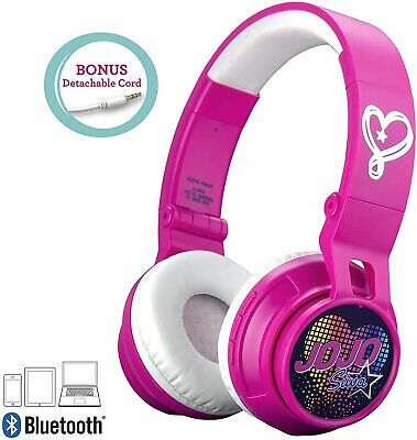 JoJo Siwa Kids Bluetooth Headphones for Wireless Rechargeable Foldable...