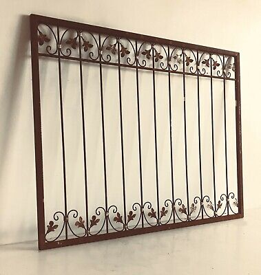 Wrought Iron Fence Fencing Iron Fence Metal Monaco-Z60/200 Raw Rust 200 CM