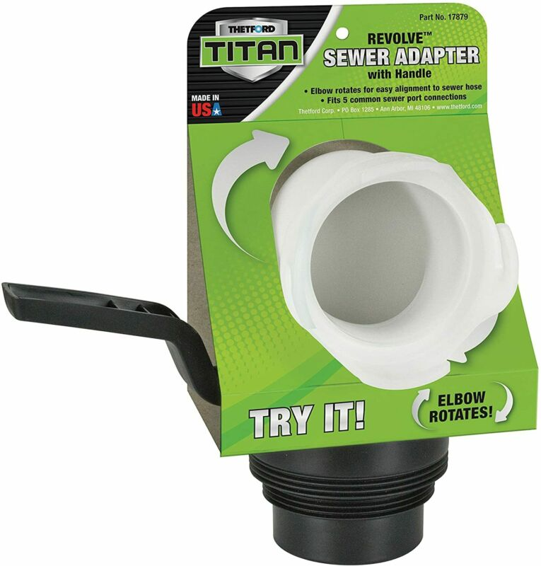 Thetford Titan Revolve Universal RV Sewer Hose Adapter with Handle 17879