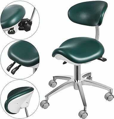 Deluxe Standard Dental Mobile Chair Saddle-1 Doctors Stool Imported Pu Leather