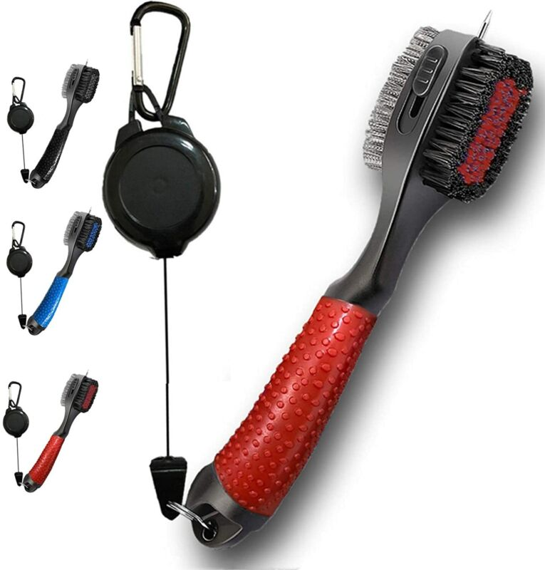 Golf Club Brush Groove Cleaner Cleaning Kit Oversized Brush Head Pack Golf Tools