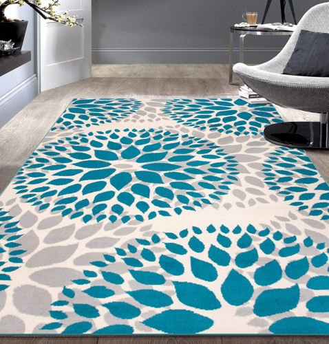 """Rugshop Modern Floral Circles Design Area Rugs 7'6"""" X 9' 5"""""""