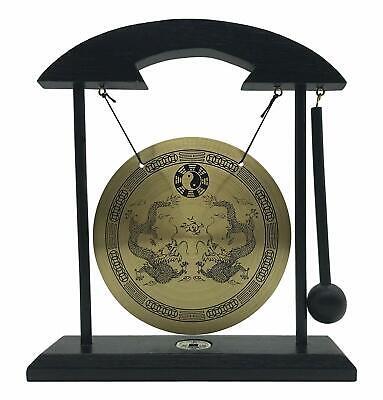 Zen Table Gong TaiChi Dragon Feng Shui Meditation Desk Bell Home Decor Gift (Zen Home Decor)