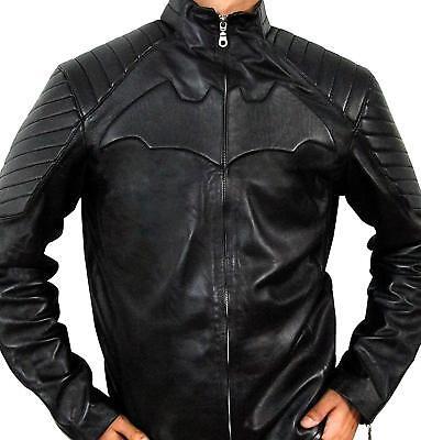 Batman Justice League Black Leather Jacket Costume](Leather Jacket Costume)