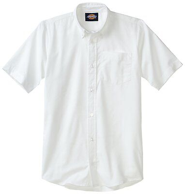 - Dickies Boys White Oxford Shirt Button Down Short Sleeves  Sizes S to XL
