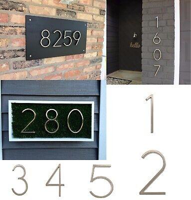 House Address Numbers Outdoor Door Number Mailbox Sign Plaque Decor Hotel Digits ()