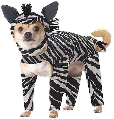 ZEBRA DOG COSTUME - ANIMAL PLANET - SIZE - Zebra Hunde Kostüm