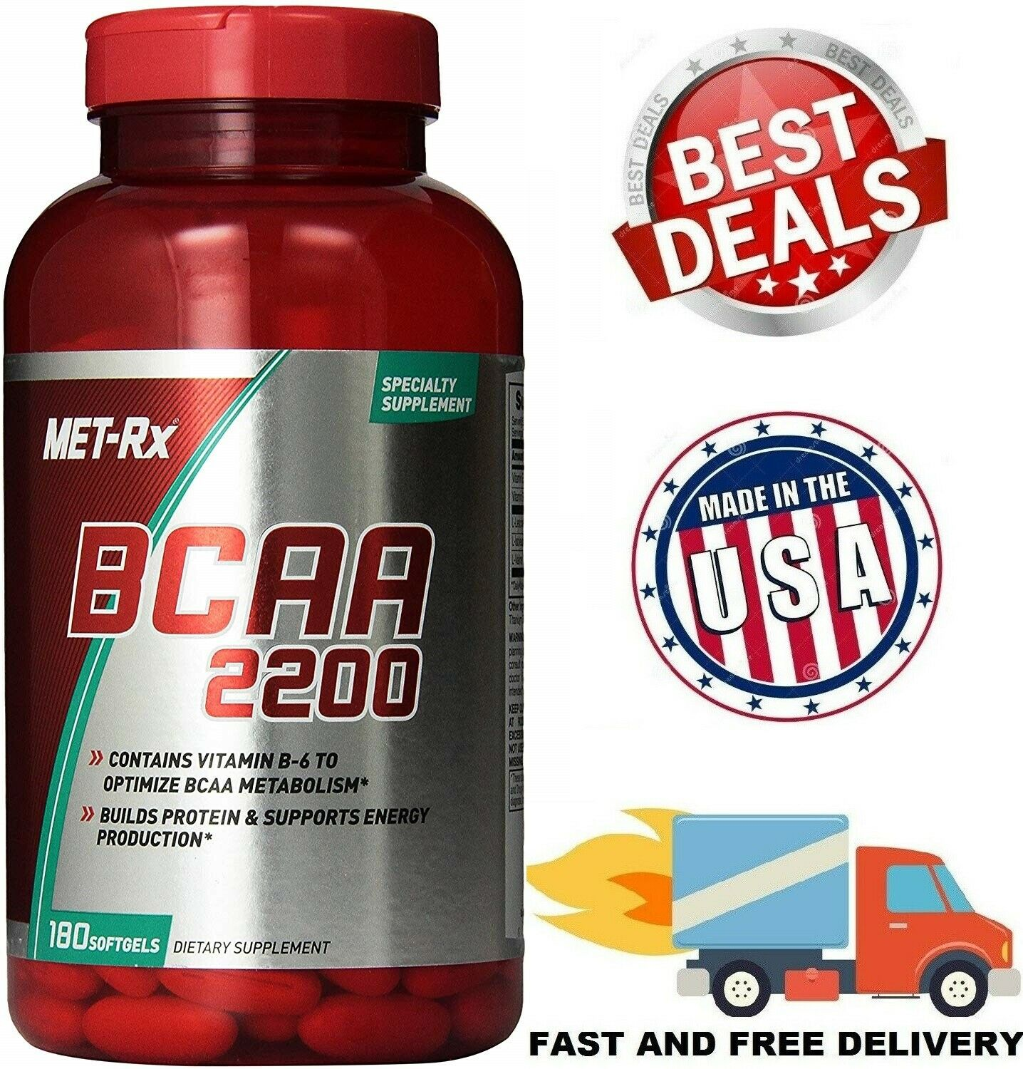 BCAA 2200 Amino Acid Supports Muscle Recovery Metabolism Sup