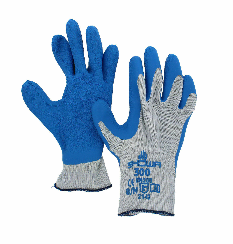 144 Pair / 12 Dozen Atlas Fit Rubber Coated Gloves Showa 300 Size Medium Business & Industrial