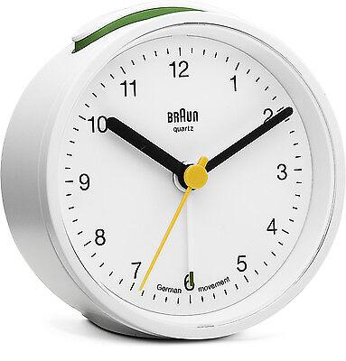 Braun Classic Travel Alarm Clock White BNC012WHWH