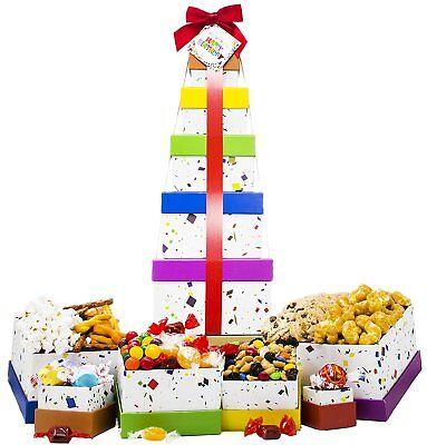Happy Birthday Gift Basket Box Tower   6 Tier