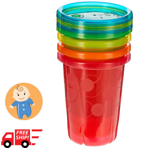 Sippy Cups The First Years Spill Proof Straw Cups Training Toddler 10 Oz 4 Count