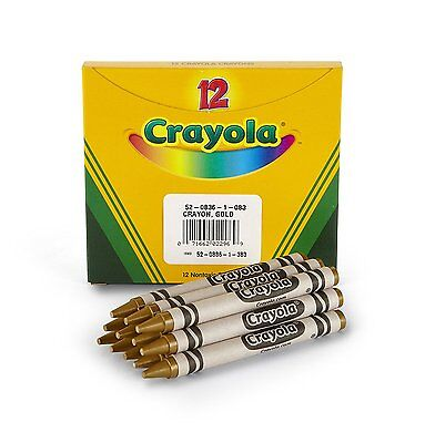 Crayola 52-0836-083 Bulk Crayons Gold, Pack Of 12, For Kids Drawing & Painting