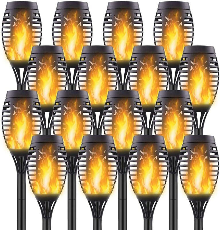 Solar Torch Light 12 LED Flickering Flame Outdoor Garden Yard Lamp Waterproof