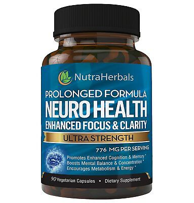 Brain Booster Supplement Nootropic Supports Mental Clarity Memory Focus  90 Qty