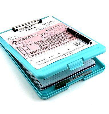 Blue Legal Size Slim-case Storage Clipboard Plastic Nurse Storage Clipboard