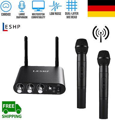 DJ PA VHF Funk Mikrofon Set Wireless Microphone Kabellos Gesangs Microfon 6n