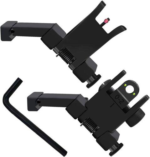 ST Fiber Optics Iron Sights Low Profile 45 Degree Flip-up Front & Rear Picatinny