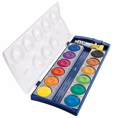 Pelikan K12 Deckfarbkasten Malkasten Farbkasten 12 Farben mit Deckweiß