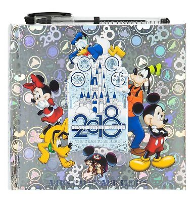 (NEW 2018 Walt Disney World Parks Autograph and Photograph Album Book with Pen)