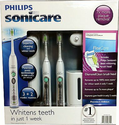 Philips Sonicare Flexcare Rechargeable Sonic Toothbrush Premium 2 Pack HX6962 on Rummage