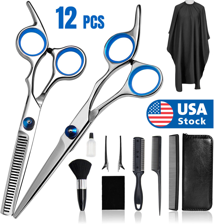 Professional Hair Cutting Thinning Scissors Barber Shears Hairdressing Salon Set Health & Beauty