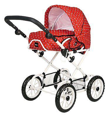 Brio Puppenwagen Combi rot mit weißen Punkten 24891311 Neu OVP
