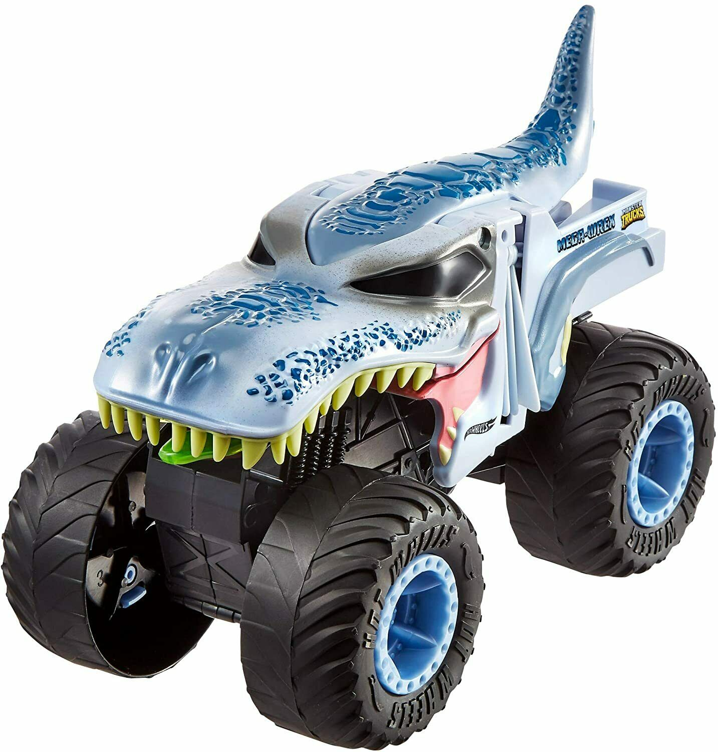 Hot Wheels Monster Trucks Double Troubles Mega-Wrex Vehicle  –  Blue 1:24 Scale Cars, Trucks & Vans