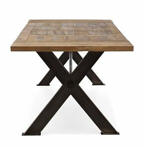 Industrial dining table ebay for Buy reclaimed wood los angeles