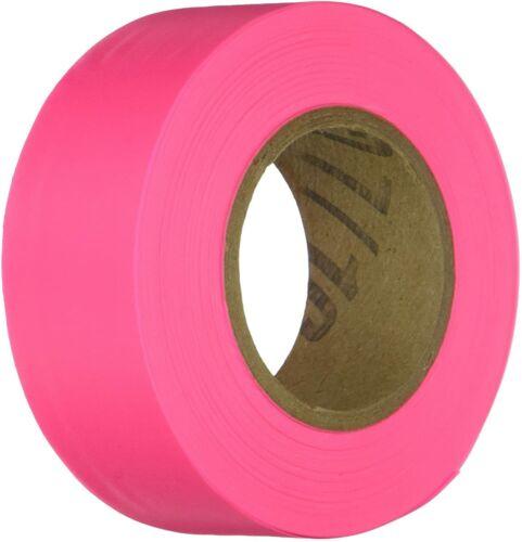 "IRWIN Tools STRAIT-LINE 150 Foot Flagging Tape Glo-Pink Vinyl Tape 1-3/16"" Wide"