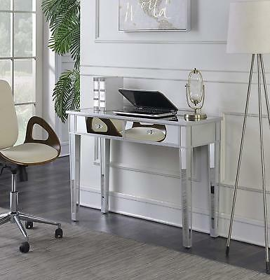 Mirrored Console Table Vanity Dresser Modern Sofa Side Entry Storage Drawers ()
