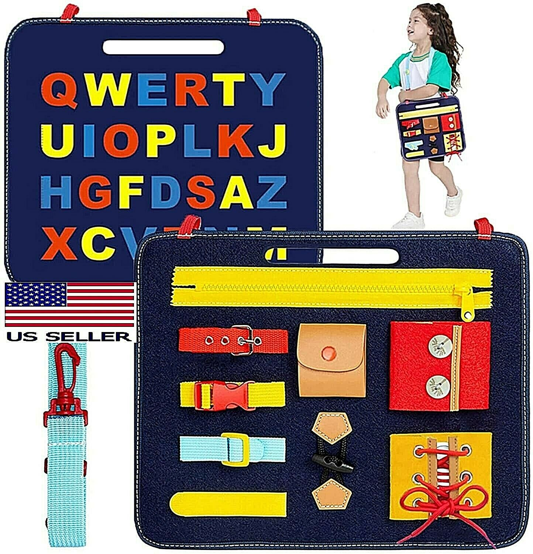 Montessori Sensory Board for Toddlers Develops Basic Skills and Fine Motor Skill Baby