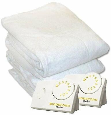 King Size Electric Heated Mattress Pad Bedding Heater Blanket Cover Bed -