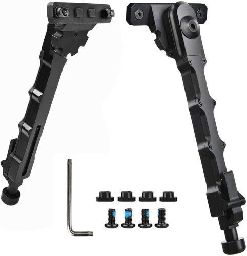 "7.5"" - 9"" M-LOK Rifle Bipod Lightweight Adjustable for Gun Hunting Matte Black"