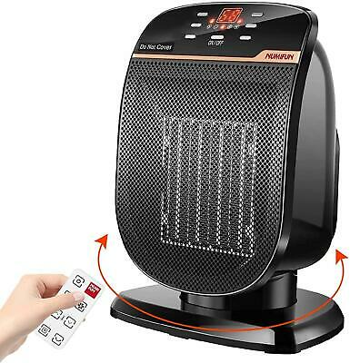 Space Heater Digital Electric with Thermostat Portable Oscillating Ceramic 1500W