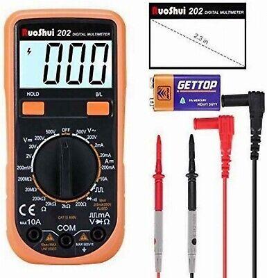 Digital Multimeter Ac Dc Voltmeter Ohm Current Test Meter Overload Protection