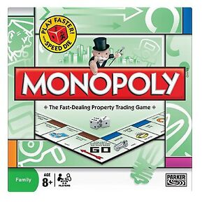 British Original Hasbro Brand New Classic Monopoly Family Trading Board Game