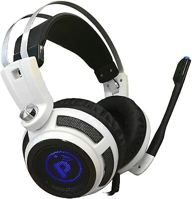 Pyle PGPHONE80 7.1 Gaming Headset Headphones with Built-In Microphone USB