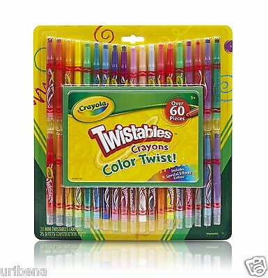Crayola Twistable Crayons & Paper Toy (60 Piece) 04-5865 Twist-up Kid's Colors